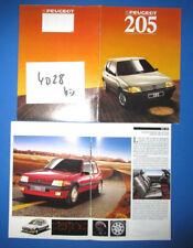 N°4028 bis /  catalogue gamme PEUGEOT 205 / 1988  / 205 GTI 1.6 et 1.9