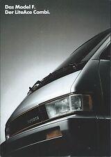 Auto Van Truck Brochure - Toyota - Model F LiteAce Combi GERMAN - c1987 (T2138)