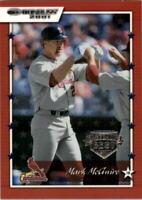 2001 Donruss Baseball's Best Silver #15 Mark McGwire
