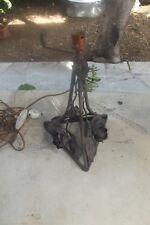 Pied en fer forgé art déco pour dôme Muller Daum pâte de verre