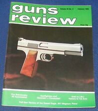 GUNS REVIEW MAGAZINE FEBRUARY 1985 - THE DESERT EAGLE 357 MAGNUM PISTOL