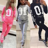 2Pcs Women Tracksuit Hoodies Sweatshirt Pants Sets Sport Wear Jumper Casual Suit