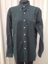 Men's American Living Work/dress  Shirt Size Large Hunter Green