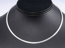 USA Seller Italian Omega 3mm Necklace Sterling Silver 925 Best Deal Jewelry 16""