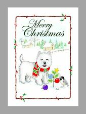 West Highland White Terrier Dog Christmas Cards, Boxed, 16 Cards & 16 Envelopes