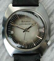 Vintage 1973 Bulova Accutron Accuquartz Date Tuning Fork Watch