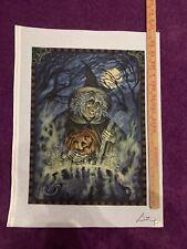 HandPainted Needlepoint Canvas Halloween Witch & Her Cauldron by Liz