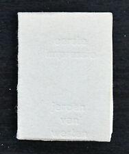 Jeroen van Westen miniature book # EERSTE IMPRESSIE # 1980, numb/signed, mint