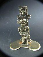 Antique Solid Lincoln Brass Goblin Troll Figurine  Letter Holder c1900's Estate