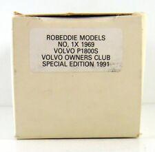 ROB EDDIE - BROOKLIN 1969 VOLVO  #1  P 1800 S 1:43 (BOX ONLY)