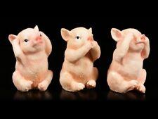 Schweinchen Figuren - Nichts Böses - Drei niedliche Ferkel Geschenk Deko