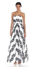 Avery G Women's Long Lace Ballgown, Navy/White, 2