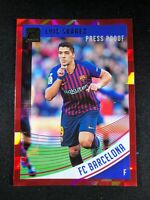 2018-19 Panini Donruss Soccer Luis Suarez Barcelona Atletico #2 Red Press Proof