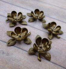 Pack of 10 Brass Flower Bead Caps Bronze Colour