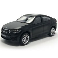 BMW X6 M 1:43 Model Car Diecast Toy Vehicle Pull Back Kids Collection Gift Black