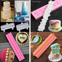 Bead Pearl String Silicone Fondant Mold Cake Decorating Sugarcraft Baking Mould
