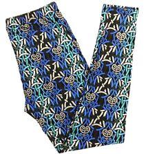 NWT Buttery Soft Black Gray Blue Knot Legging Tall & Curvy XL Plus Wave Flame TC