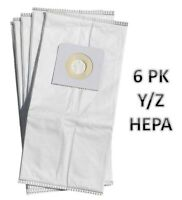 HOOVER WINDTUNNEL TYPE Y/Z WINDTUNNEL Cloth VACUUM BAGS  HEPA - 6 pack