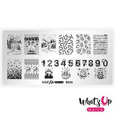 B050 Count On Me! Stamping Plate For Christmas Stamped Nail Art Design