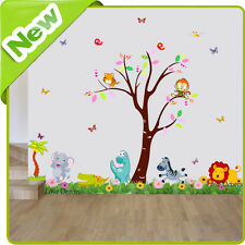 Animal Wall Stickers Monkey Jungle Dinosaur Nursery Baby Kids Room Decal Art
