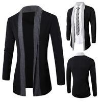 Stylish Men's Fashion Cardigan Jacket Slim Long-Sleeve Casual Coat Fashion Man's