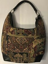 St John's Bay Vintage 1980 Elephant Tapestry Satchel Bag/ Purse  Preowned