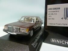 WOW EXTREMELY RARE Mercedes W116 450SEL 1974 D.Red 1:43 Minichamps-300,350,560