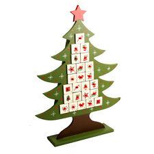 Lunatique Hiver en Bois Arbre Calendrier de L'Avent Décoration de Noël Enfants