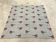 Robin red breast birds tartan check a cotton flannelette remnant craft material