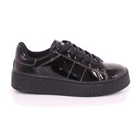 SCARPE SNEAKERS DONNA RAGAZZA XTI 55296 ZAPATO ECO PELLE NERO ORIGINALE AI NEW