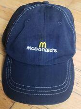 McDonalds Fast Food Restaurant Black Baseball Hat Cap Recycled Plastic Bottles