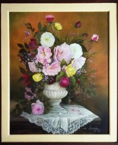 Floral Sets Oil On Canvas Painting, Sold Separately