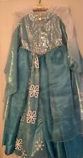 Disney World Store Authentic Frozen Elsa DELUXE Dress Costume 7/8. EEUC Princess