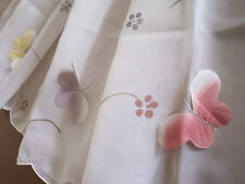 Again ! Hot sale @ Chic 3D Butterfly Embroidery White Sheer Cafe Curtain Trim