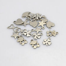 20pcs Fashion Jewelry Mixed 304 Stainless Steel Charm Pendants DIY 7~13x6~12x1mm