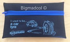 Remarkable recycled Pencil Case I used to be a car tyre Eco Friendly NEW - BLUE