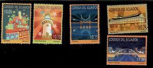 2007 Ecuador Stamps Tourism of Guayaquil City #1905-1909 MNH