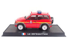 New 1:43 Diecast Fire Engine France Terrano II 2004 Fire Truck Vehicle