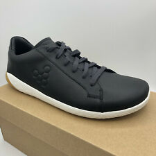 Vivobarefoot Geo Court II Obsidian Leather Shoes Size 42