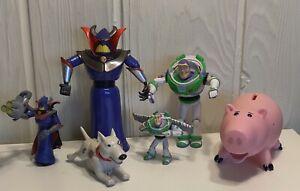 Vintage Lot Of 5 Toy Story Figures Rare Buzz Zurg  Hamm