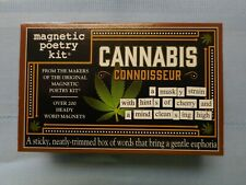 NEW CANNABIS CONNOISSEUR Magnetic Poetry Kit