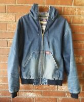 "50"" Chest Dickies Mens Hooded Denim Jacket Lined Jacket Large"