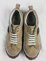CATERPILLAR Neder Canvas Sneaker Mens 9.5M Engineered Durability Web Outsole Tan
