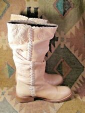Bronx Tan Tall Leather Women's Boots Size 8.5-Usa 39 -Eu Made in Portugal