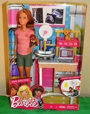 Barbie Zoo Doctor Playset with 2 animals, table & many accessories New In Box