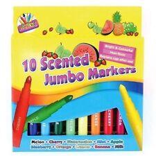 10 x Coloured SCENTED MARKER PENS Art Craft Kids Children Felt Tips Colouring