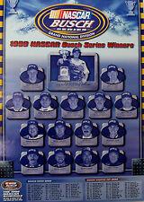 Vtg 1998 Nascar Busch Series Winners Racing Poster Dale Jr Budweiser Beer