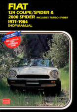 Fiat 124 Coupe Spider 1971-1984 New Workshop Manual inc. Turbo Spider Repair