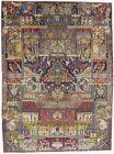 10X13 Pictorial Design Handmade Antique Oriental Rug Home Decor Carpet 9'5X12'9