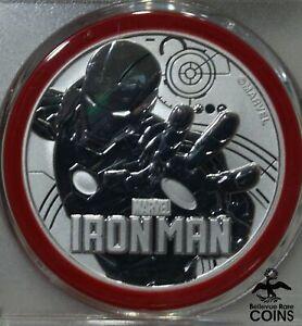 2018 Tuvalu $1 IRON MAN 1oz Silver .999 Coin PCGS MS69 1st Strike w/ Pouch